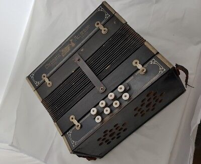 "VINTAGE CHROMATIC BUTTON Accordeon/Accordion Accordian  ""National Band"""