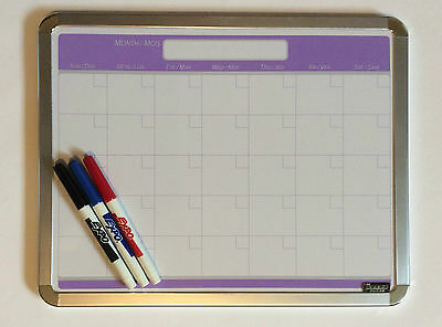 Dry Erase Calendar Day Timer Month w Markers 14x11 Large Work Spaces Home Office