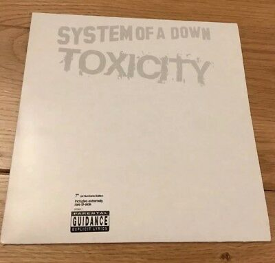 """System Of A Down Toxicity / Storaged Red Vinyl 7"""" Single Rare Unplayed"""