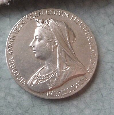 1897 Victoria, Diamond Jubilee, a lovely bright official  .925 silver medal