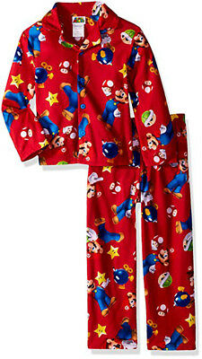 Super Mario Boys 2pc Pajama Pant Set Size 4 6 8 10 $38
