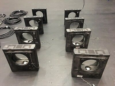 Chroma-Q gel colour changers scrollers (10) plus (2) psu/splitter boxes & cables