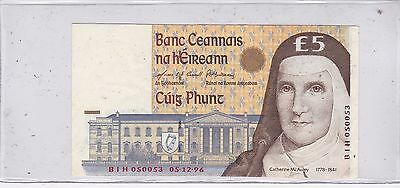 Kappyscoins  Id10164 Central Bank Of Ireland 5 Five Pound Bank Note Crisp Unc
