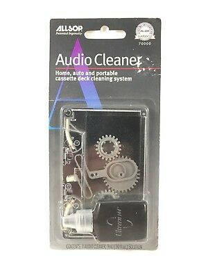 Allsop Audio Cleaner Cassette Deck Cleaning System #70000 New Old Stock