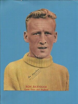 RON BAYNHAM (Luton Town & England), colour photo, ORIGINALLY SIGNED!