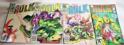 Incredible Hulk Lot of 4 Comic Books 1984 #298 #299 #306 #393 VF/NM Special 30th