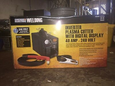 Chicago Electric 62204 Inverter Plasma Cutter W/ Digital Display FREESHIPPING