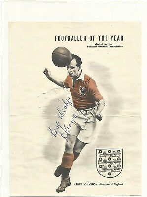 1919-1973 HARRY JOHNSTON (Blackpool & England), photo, ORIGINALLY SIGNED!