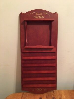 Vintage Styled Coca-Cola Wooden Weekly / Monthly Organizer