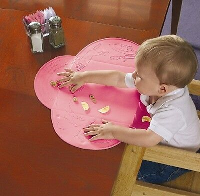 Summer Infant Tiny Diner Toddler Placemat with Food Catcher, Pink