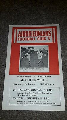 Airdrieonians V Motherwell 1957-58