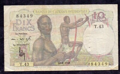 10 Francs From French Equatorial Africa 1948