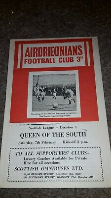 Airdrieonians V Queen Of The South 1958-59