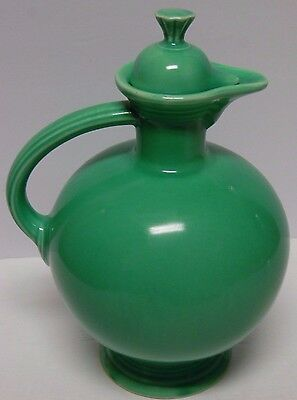 Vintage 1936 LIGHT GREEN FIESTA CARAFE JUG & LID FIESTAWARE HOMER LAUGHLIN HLC