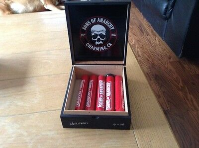 BLACK CROWN SONS OF ANARCHY  CIGAR BOX EMPTY 10 Empty Tubes Included