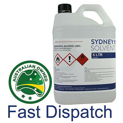 Isopropyl Alcohol 100% 5L Pure IPA Isopropanol 5 Litre Multi Use Cleaner