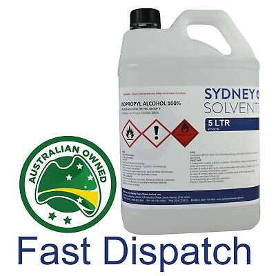 Isopropyl Alcohol 100% 5L Rubbing Alcohol Surface Cleaner Isopropanol 5 Litre