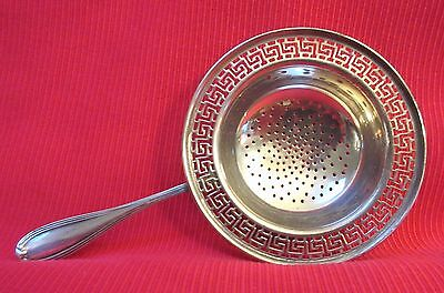 Tea Strainer 925 Sterling Greek Key Pattern