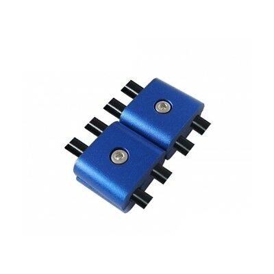 Pair of separator double to spark plug wire Blue