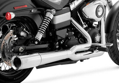 Vance & Hines Pro Pipe 2 Into 1 Full Exhaust System For Harley Dyna 17569