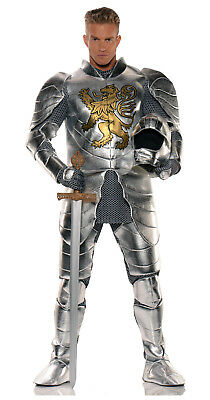 Medieval Knight in Shining Armor Suit Arthur Lancelot Camelot Adult Mens Costume