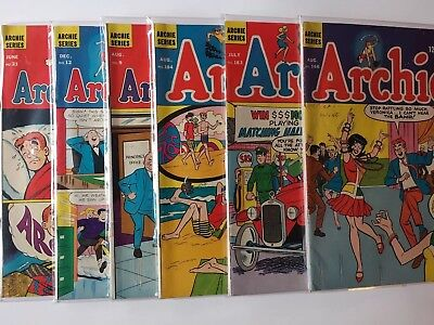 Mixed LOT 6 Archie Comics SILVER 1960's Archie and Me Archie Series GD FN