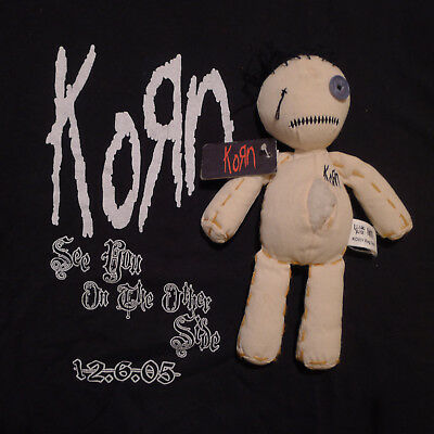 """Korn - """"Issues"""" voodoo doll & """"See You On the Other Side"""" T-shirt - Rare!"""