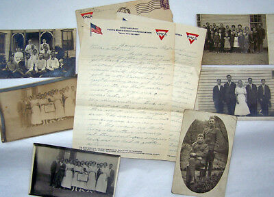 Real Photo Postcards & WWI Letter From Lt. Harold Holcomb~Snapshots of His Life