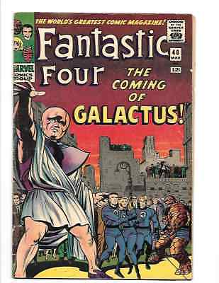 Fantastic Four #48 (Mar 1966, Marvel) First Galactus & Silver Surfer Nice Copy!