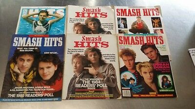 Duran Duran - Lot Sale Of 6 Smash Hits 1980S Magazine Cover Issues