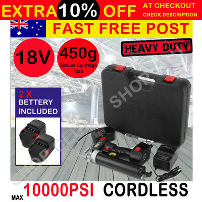 18V VOLT BATTERY ELECTRIC 450g GREASE GUN - CORDLESS RECHARGEABLE High Quality