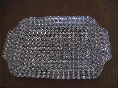 """Vintage Gorgeous Heavy Ornate Glass Serving or Vanity Perfume Tray 12"""""""