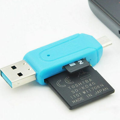 2-in-1 Adapter HOT OTG SD Micro SD Card Reader For PC Samsung USB Flash Drive