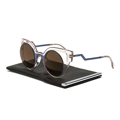 0dabf4206df Fendi FF 0137 S Paradeyes Sunglasses NT7LC Blue Transparent Pink Brown  Mirrored