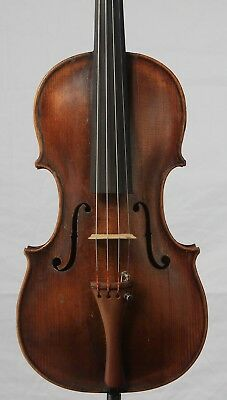 Nice vintage old antique 4/4 Violin  Czech or French 354mm One Piece Back