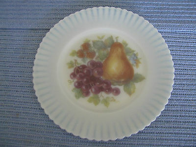 "Beautiful Old Hand Painted 8"" Custard Glass Plate"