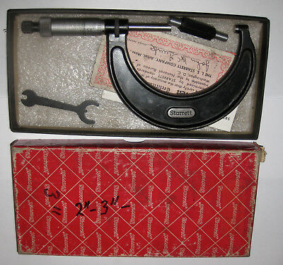 """STARRET MICROMETER 2"""" to 3"""" #436 boxed Machinery milling tool mechanic workshop"""