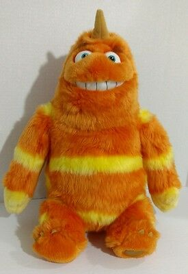 """Disney Pixar Monsters Inc George Sanderson 15"""" Plush with a Sock on his back"""