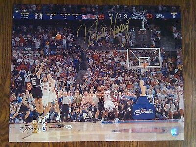 "ROBERT HORRY  Signed 16x20 PHOTO ""2005 GAME 5 FINALS Game-Winner"" AUTO Spurs COA"