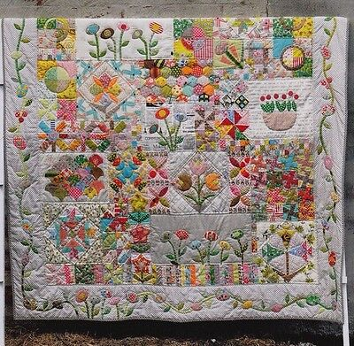 Green Tea & Sweet Beans - pieced & applique quilt PATTERN - Jen Kingwell