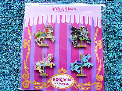 Disney * CAROUSEL HORSES * New in Pack 4 Pin Booster Set