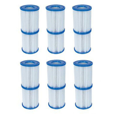 12x Bestway 58094 Type II Cartridge Filter for Swimming Pool Pump 58383 58386