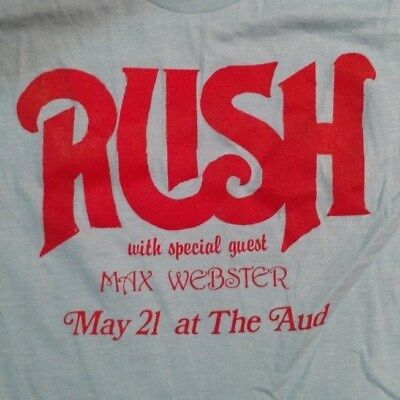 VTG Rush Promoter Tshirt Harvey & Corky w/ Max Webster at the (Buffalo) '80