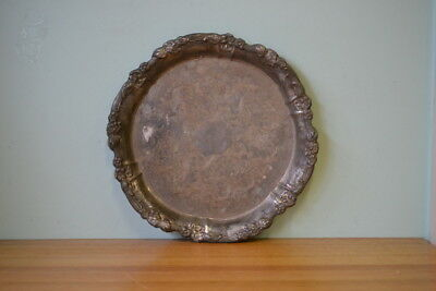Vintage metal serving tray drinks/ food tray: PT2