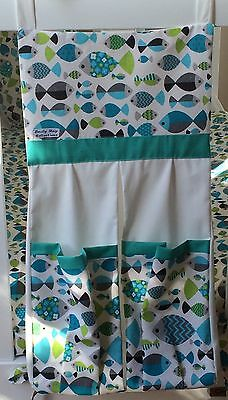 Baby Nappy/ Diaper Stacker -Retro style Fish/marine .  Made to order