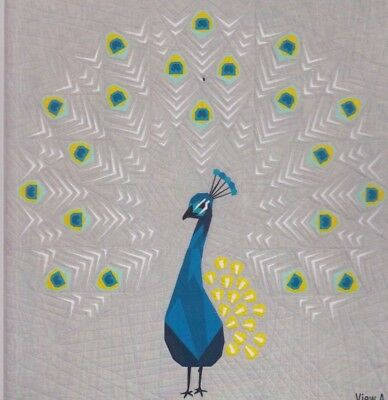 Peacock Abstractions Quilt- foundation paper pieced quilt PATTERN - Violet Craft