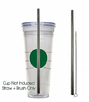 Venti Starbucks Replacement Straw Stainless Steel Reusable, Washable Drinking