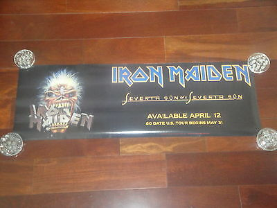 Iron Maiden Seventh Son Of A Seventh Son Promotional Promo Poster 1988 Rare