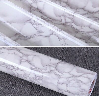 Grey Marble Decal  Vinyl Contact Paper Peel Stick 24-Inches by 78.7-Inches