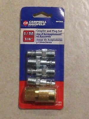 1/4 Industrial I/M Quick Coupler & Plug Set. 1/4 NPT. Campbell Hausfeld MP2920